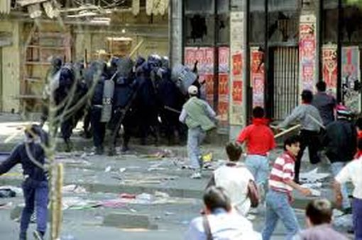 Three people were killed by police on May Day 1996 - english